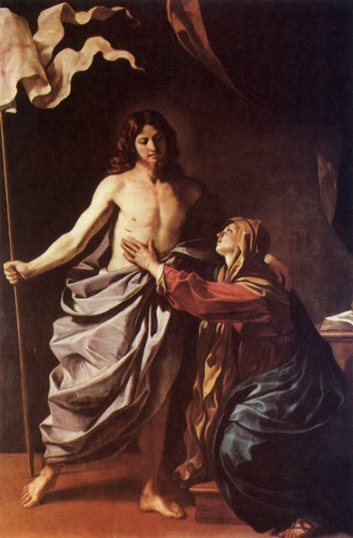 Apparition Of Christ To The Virgin 1628-30 | Guercino | Oil Painting