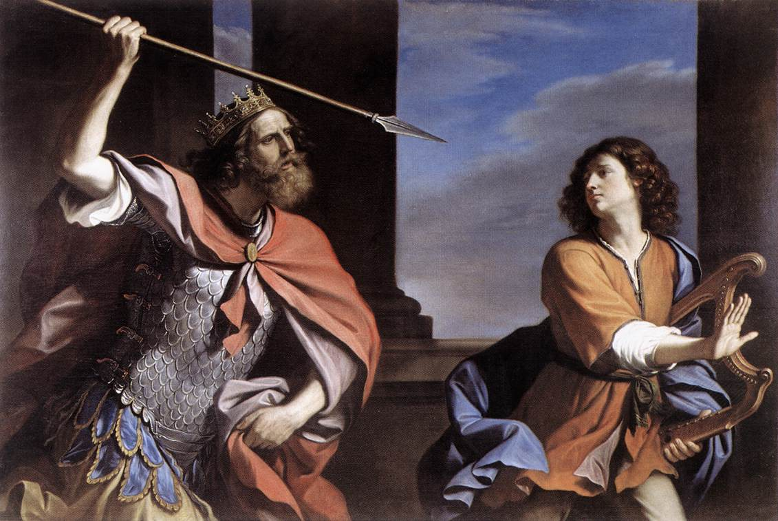 Saul Attacking David 1646 | Guercino | Oil Painting