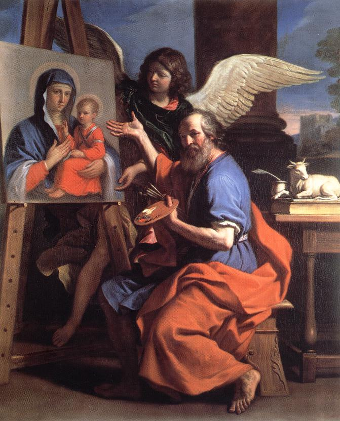 St Luke Displaying A Painting Of The Virgin 1652-53 | Guercino | Oil Painting