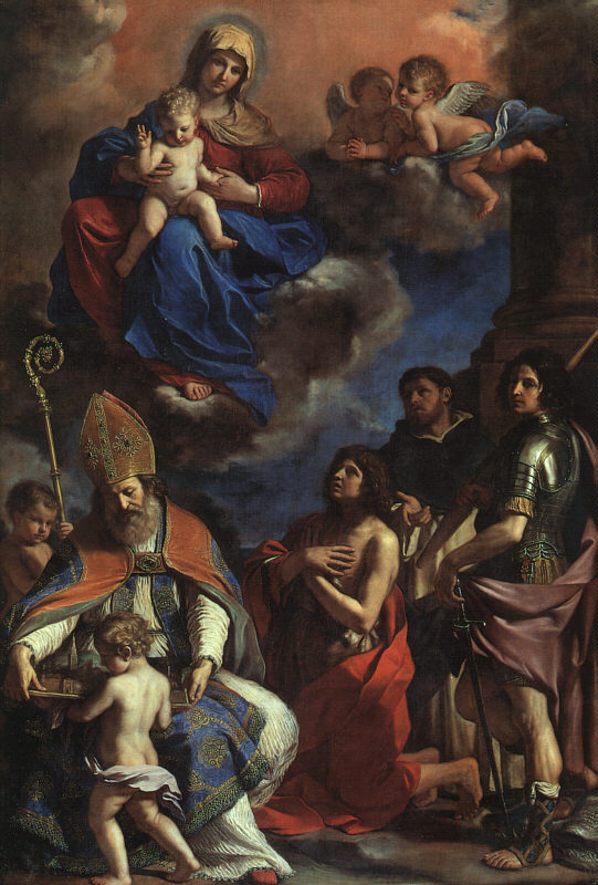The Patron Saints Of Modena 1651-52 | Guercino | Oil Painting