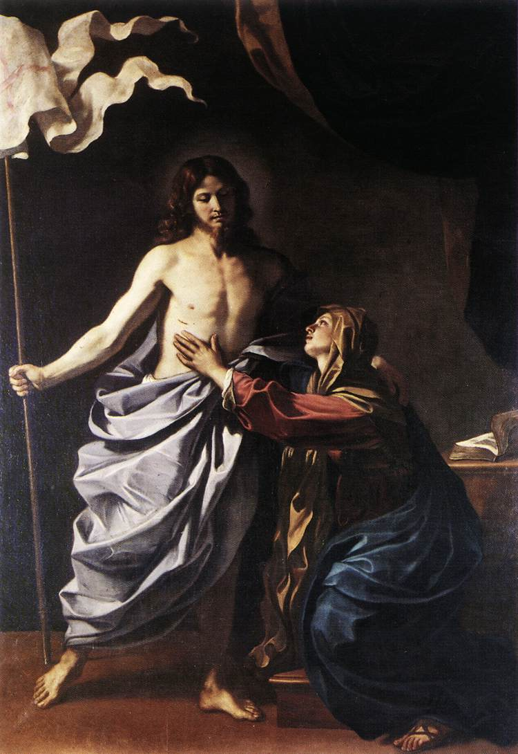 The Resurrected Christ Appears To The Virgin 1629 | Guercino | Oil Painting