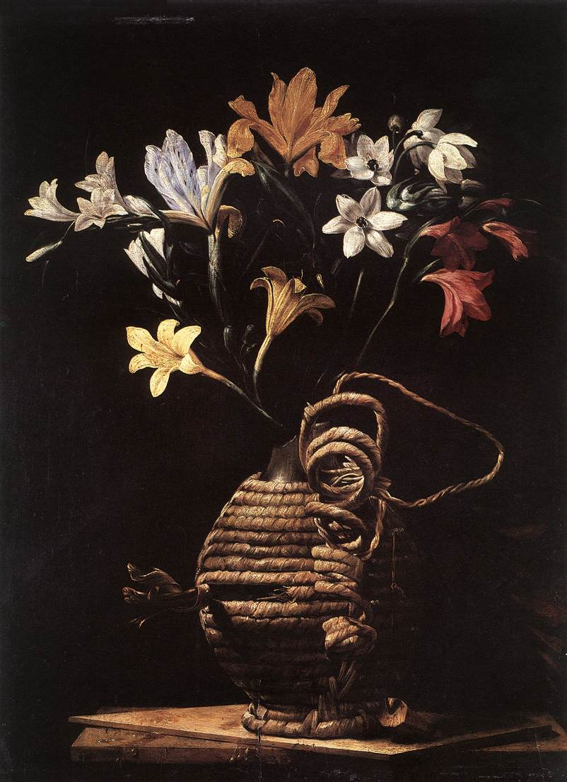Flowers In A Flask 1648 | Guido Cagnacci | Oil Painting