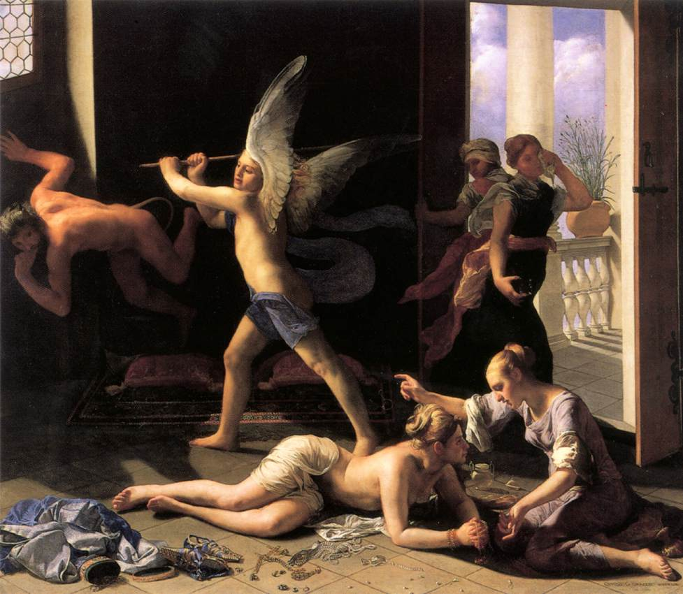 Martha Rebuking Mary For Her Vanity 1660 | Guido Cagnacci | Oil Painting