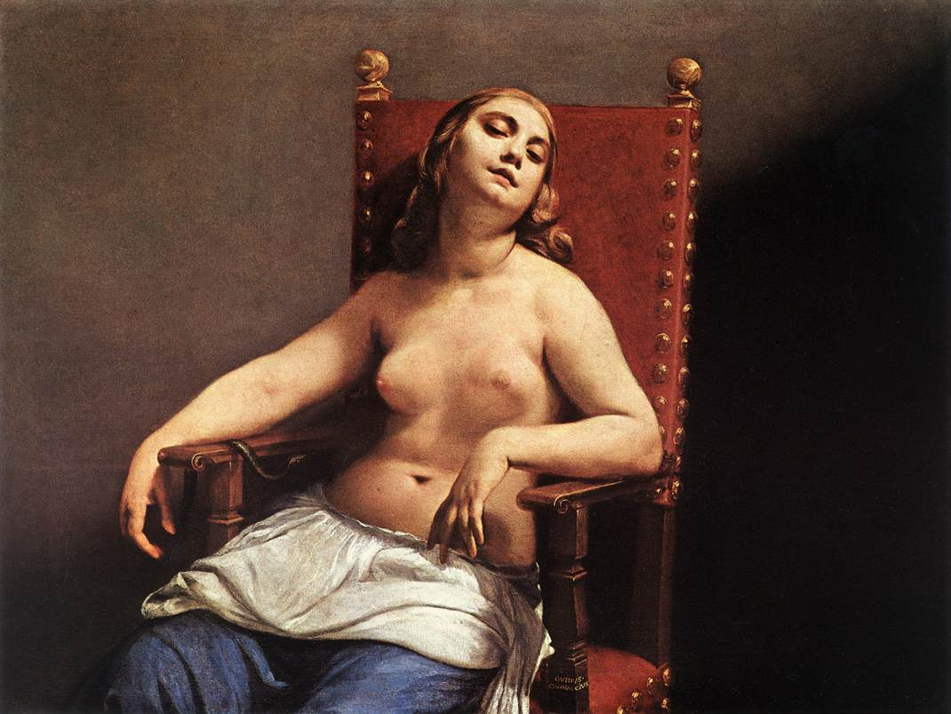 The Death Of Cleopatra C 1660 | Guido Cagnacci | Oil Painting