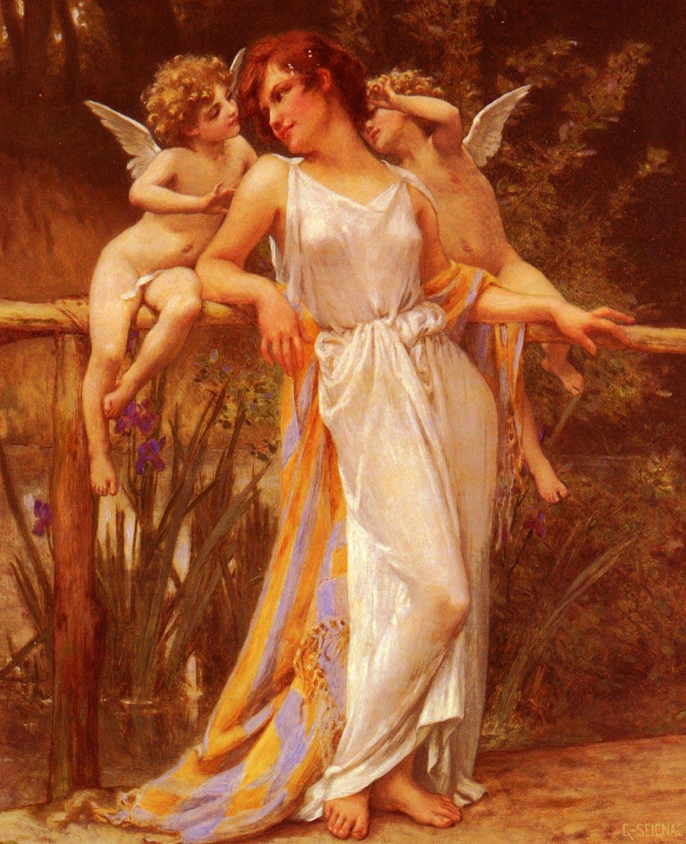 Nymphe Avec Puttis | Guillaume Seignac | Oil Painting