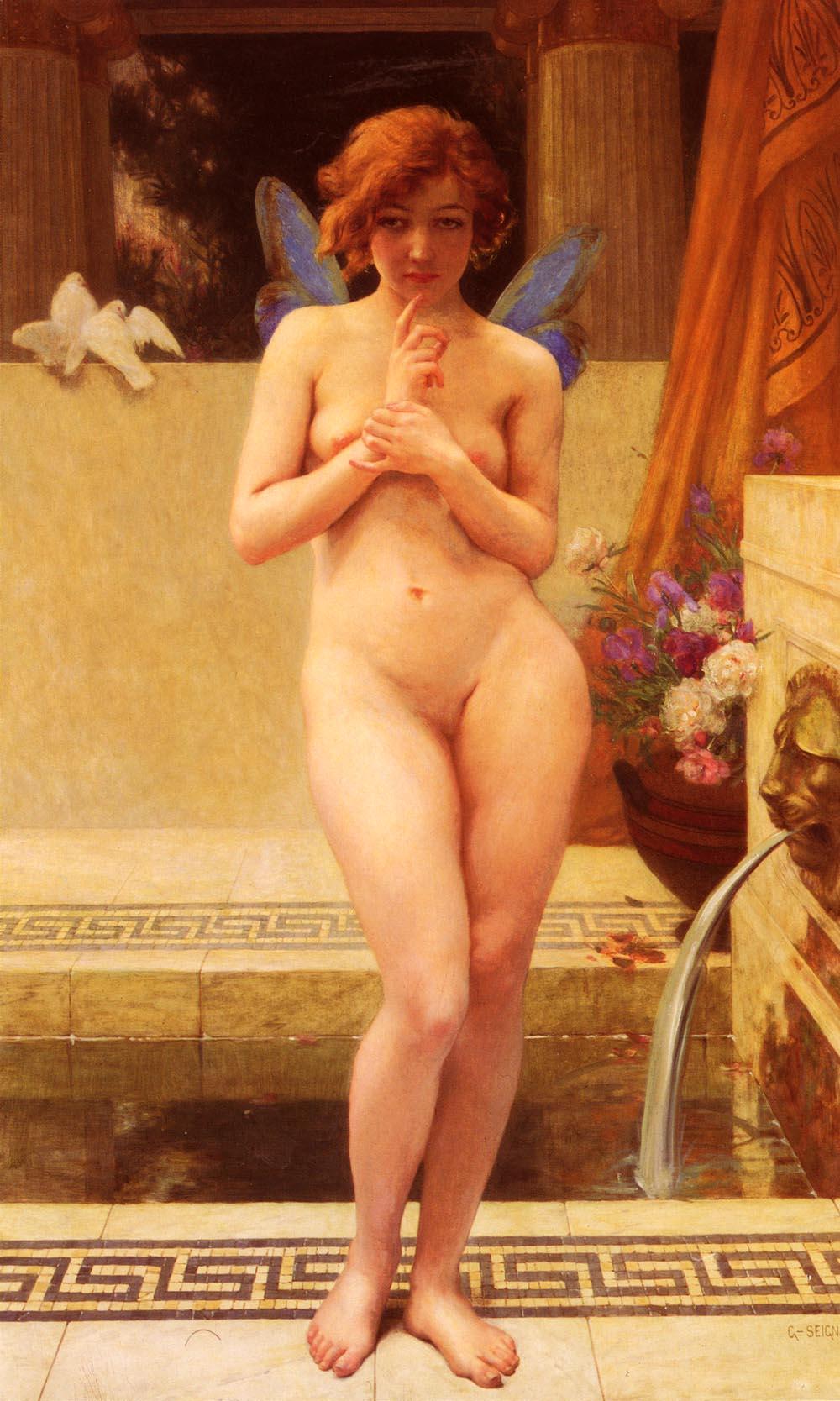 Nymphe A La Piece D-Eau | Guillaume Seignac | Oil Painting