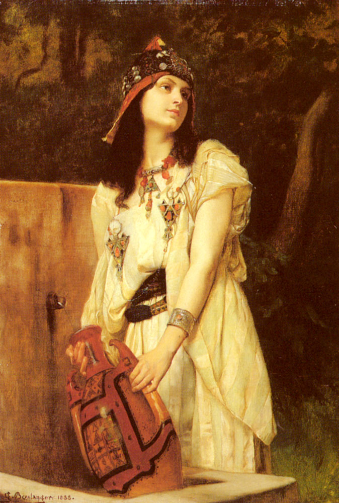 A Woman With An Urn | Gustave Boulanger | Oil Painting