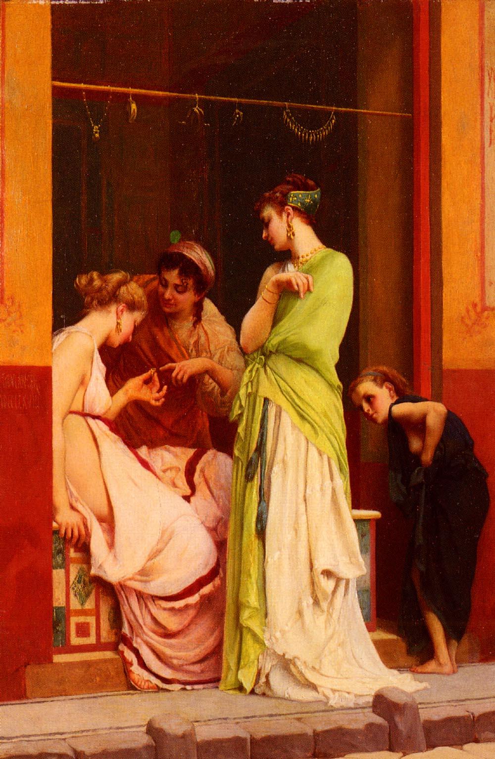 Une Marchande De Bijoux | Gustave Boulanger | Oil Painting