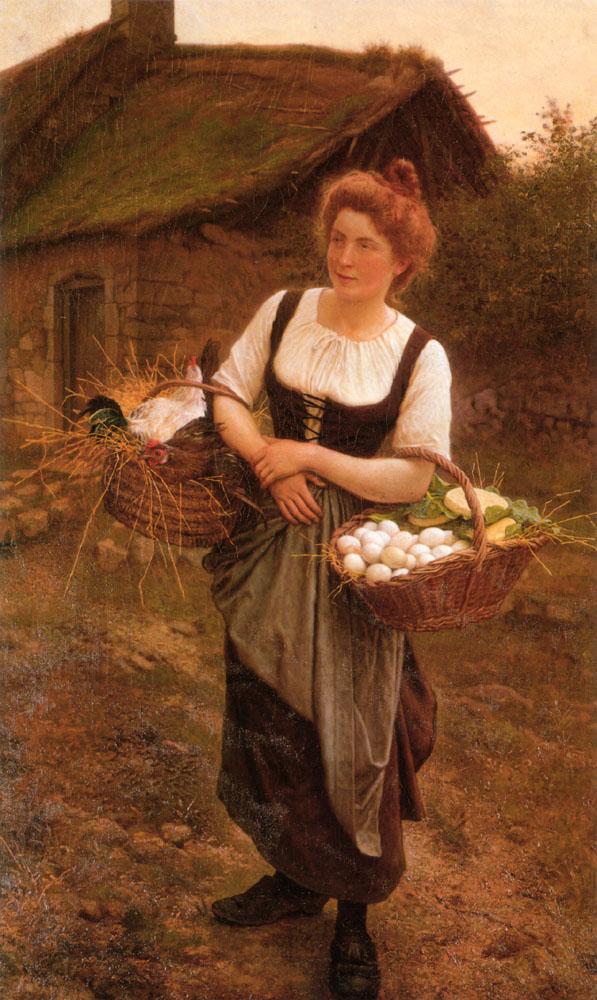 La Fille De Ferme | Gustave Boulanger | Oil Painting