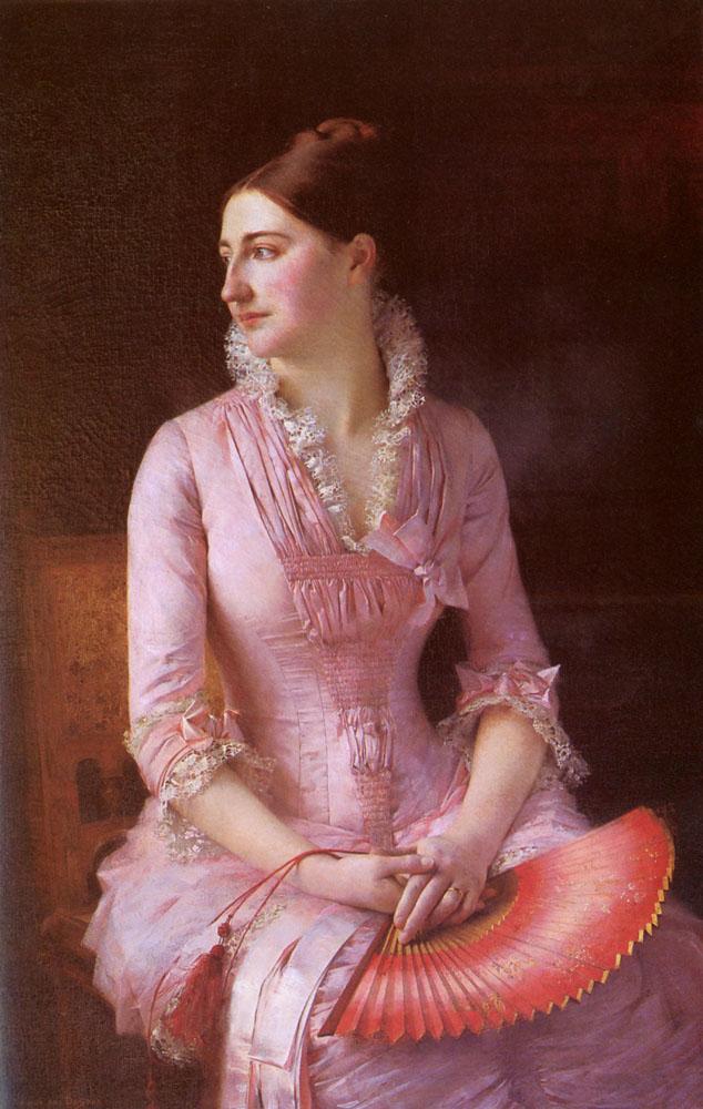 Portrait Of Anne Marie Dagnan 1880 | Gustave Claude Etienne Courtois | Oil Painting