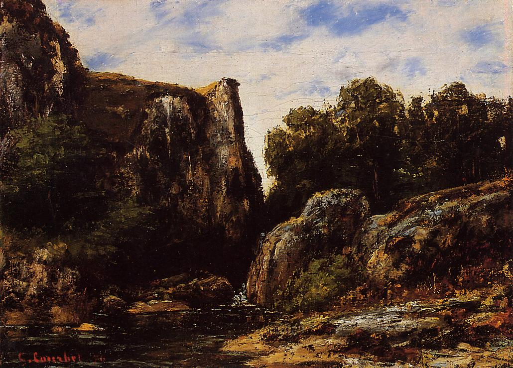 A Waterfall in the Jura 1876 | Gustave Courbet | Oil Painting
