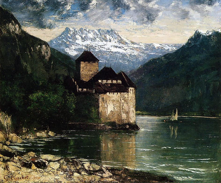 Chateau du Chillon 1874-1875 | Gustave Courbet | Oil Painting