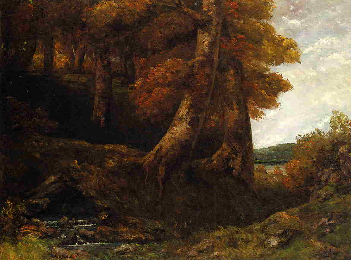 Entering the Forest 1865 | Gustave Courbet | Oil Painting