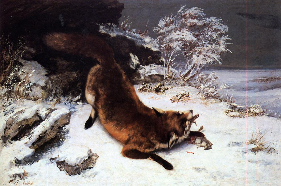 Fox in the Snow 1860 | Gustave Courbet | Oil Painting