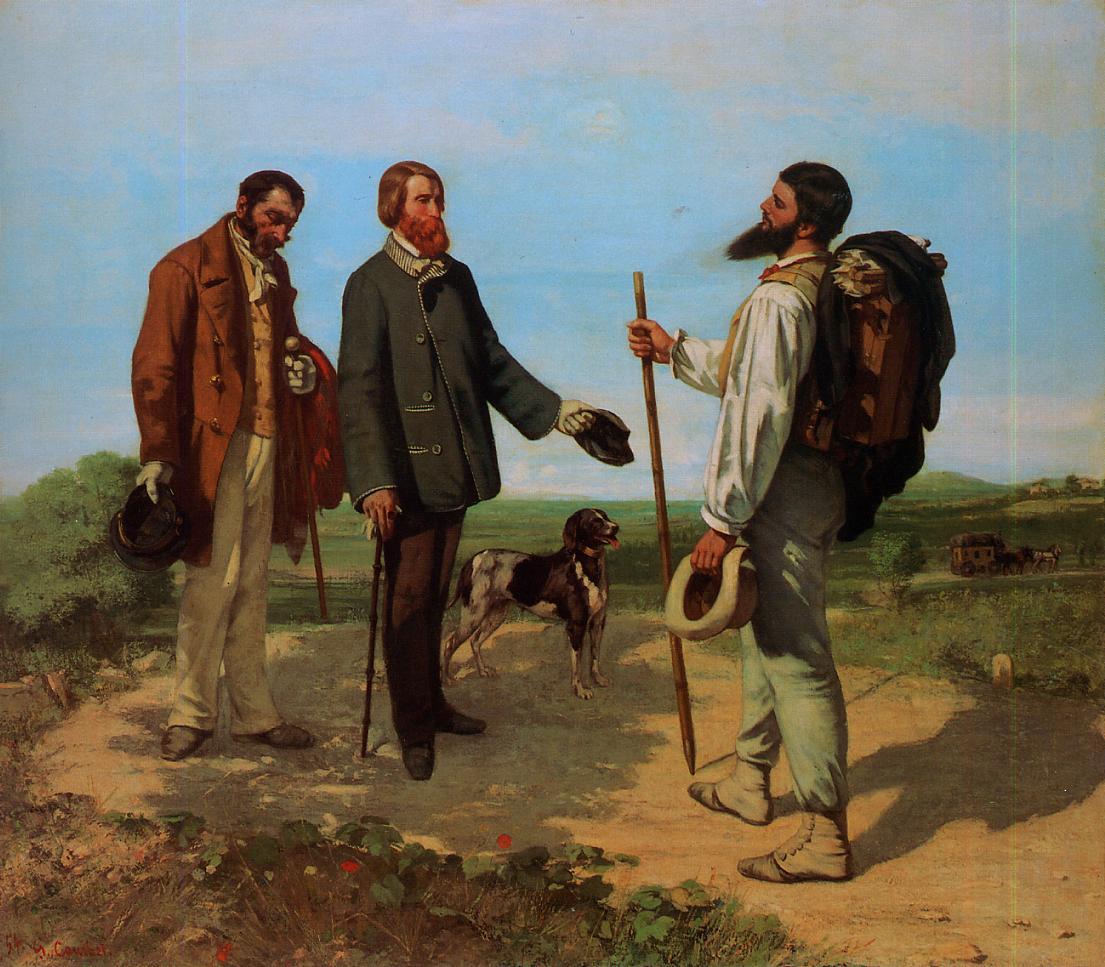 Bonjour, Monsieur Courbet 1854