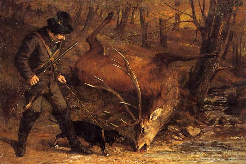 The German Huntsman 1859 | Gustave Courbet | Oil Painting