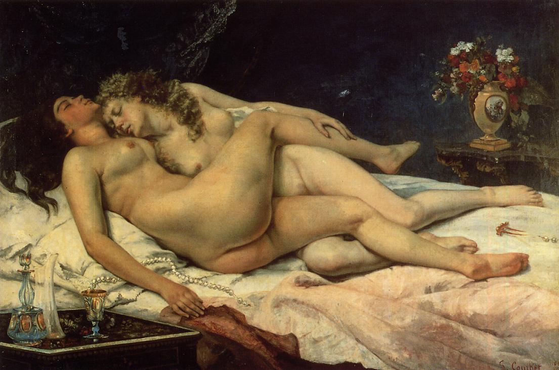 The Sleepers (aka Sleep) 1866 | Gustave Courbet | Oil Painting