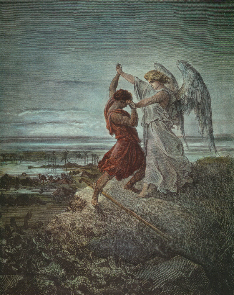 Jacob  Wrestling  With  The  Angel  1855 | Gustave Dore | Oil Painting