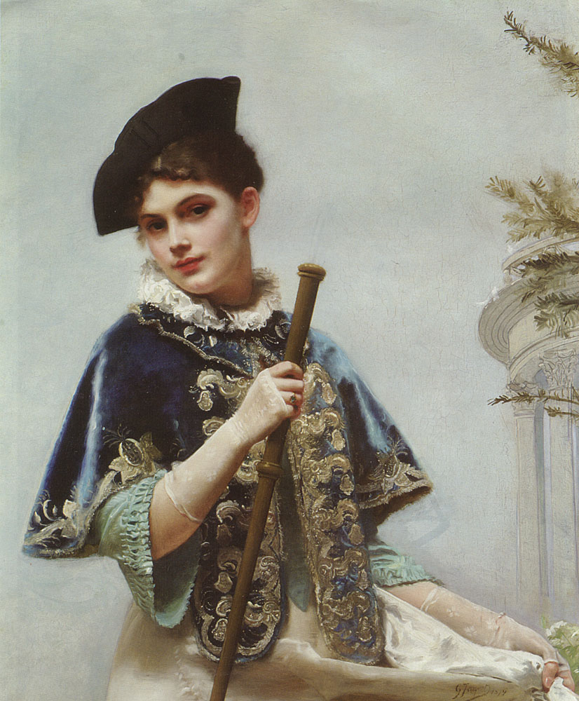 A Portrait of a Noble Lady | Gustave Jacquet | Oil Painting