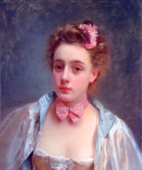 Dressed for the Ball | Gustave Jacquet | Oil Painting
