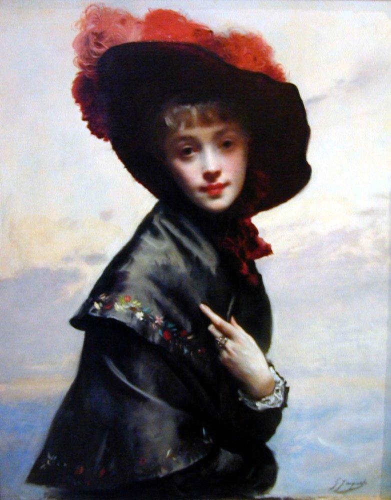 La Coquette | Gustave Jacquet | Oil Painting