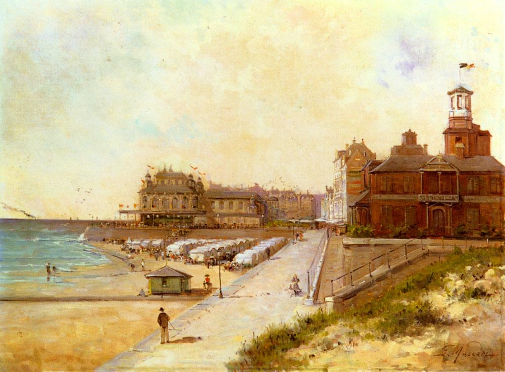 Sur La Plage | Gustave Mascart | Oil Painting