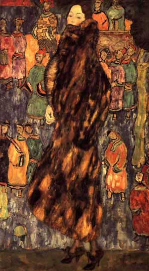 The Polecat Fur - Unfinished | Gustav Klimt | Oil Painting