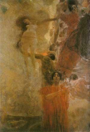La Giurisprudenza | Gustav Klimt | Oil Painting