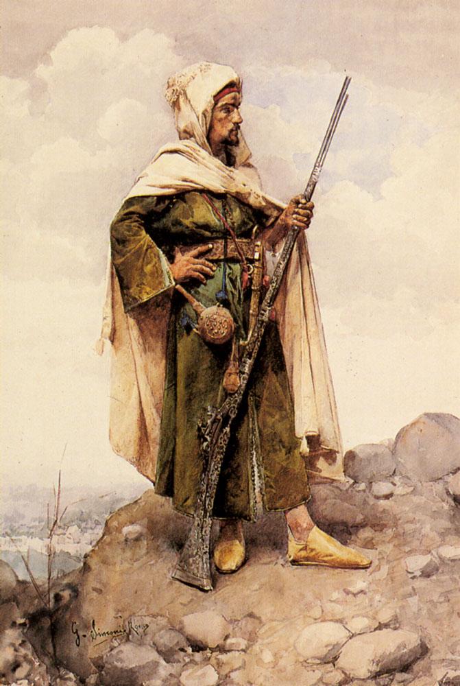 An Arab Soldier | Gustavo Simoni | Oil Painting