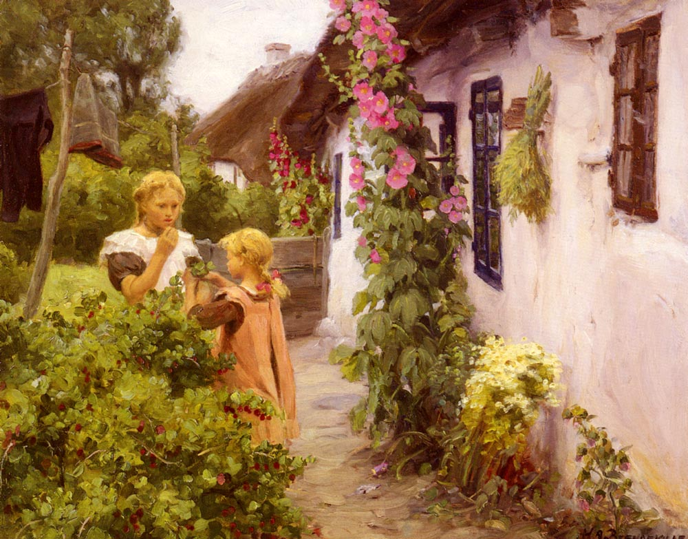The Cottage Garden | Hans Anderson Brendekilde | Oil Painting