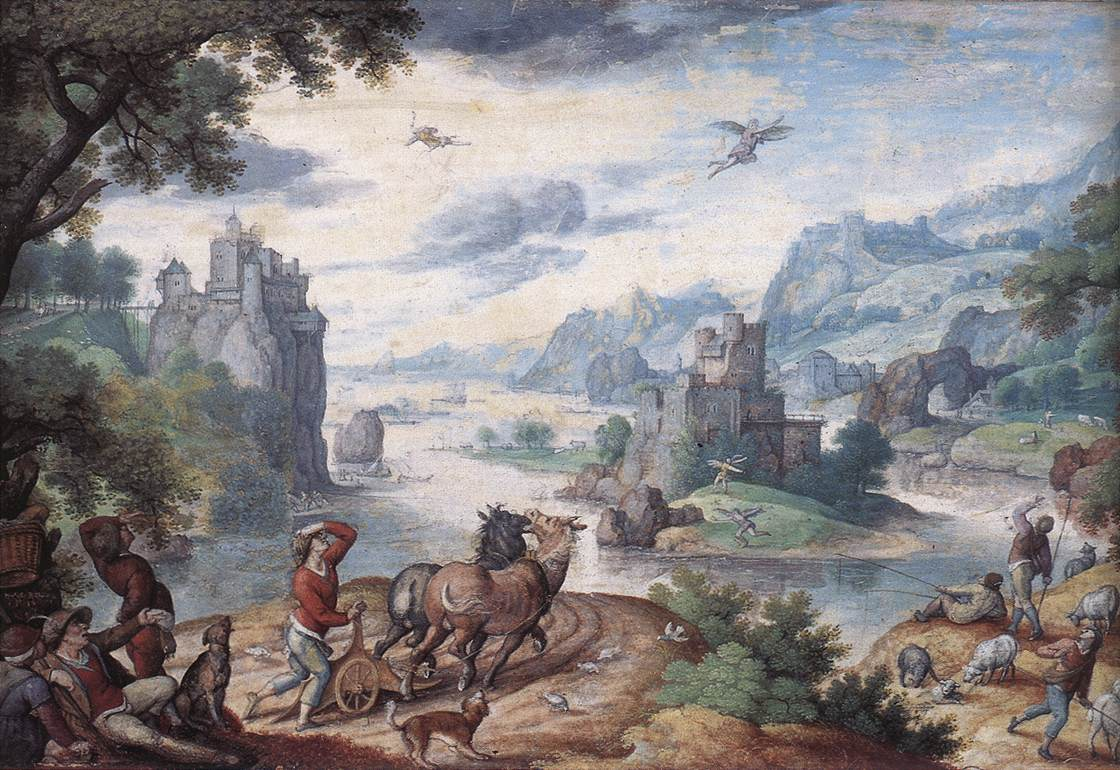 Landscape With The Fall Of Icaru | Hans Bol | Oil Painting