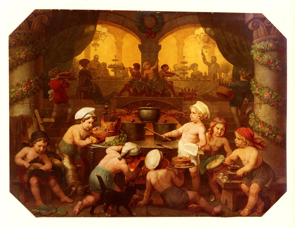 Das Grosse Festmahl | Hans Brunner | Oil Painting