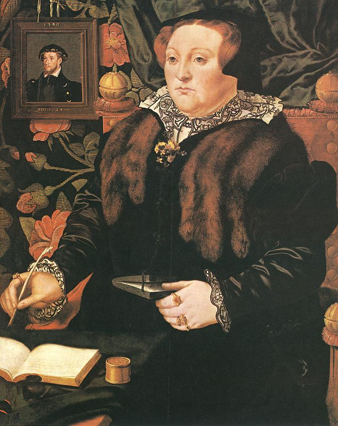 Portrait Of Lady Dacre 1540 | Hans Eworth | Oil Painting