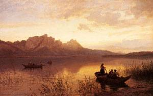 Drachenwand On The Mondsee | Hans Fredrik Gude | Oil Painting