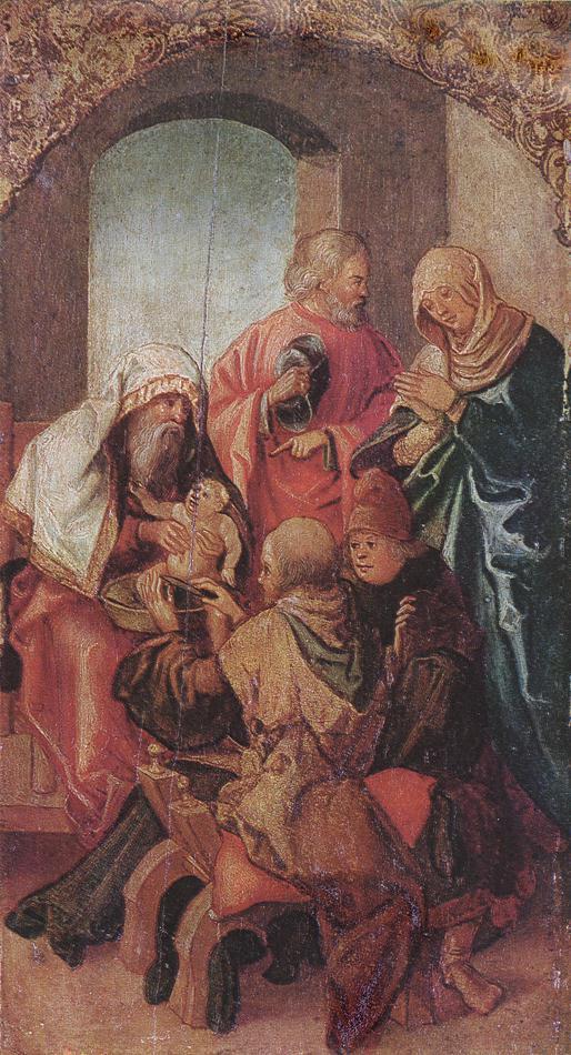 The Circumcision Of Christ 1505-06   Hans Leonhard Schaufelein   Oil Painting