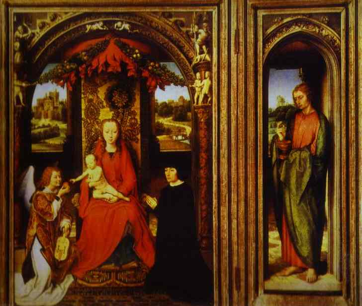 Altar Of Saints John The Baptist And John The Evangelist | Hans Memling | Oil Painting