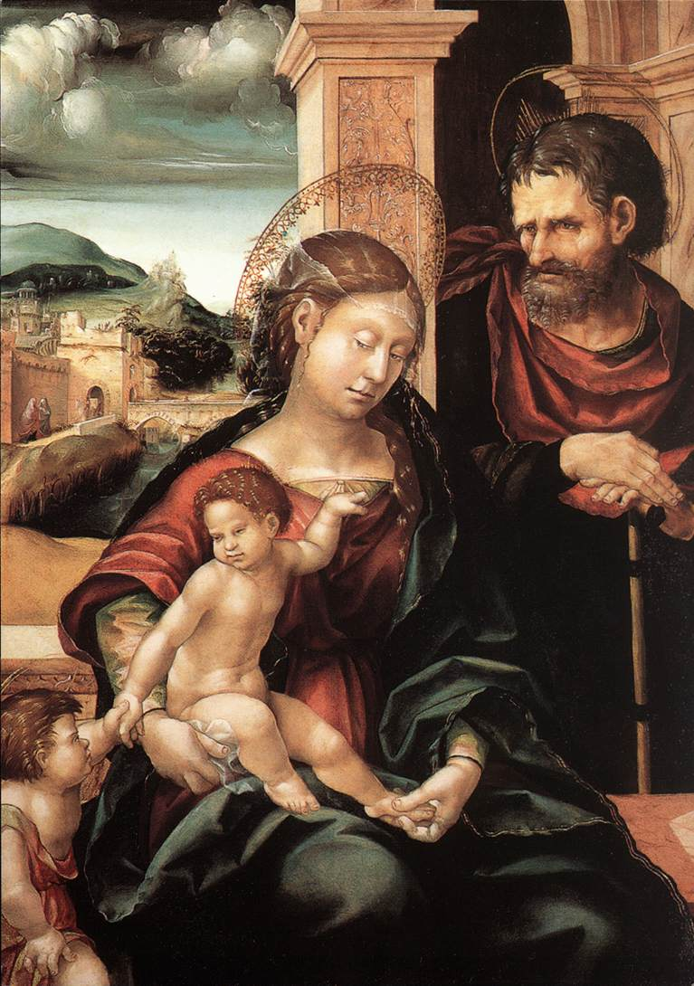 Holy Family With The Child St John C1525