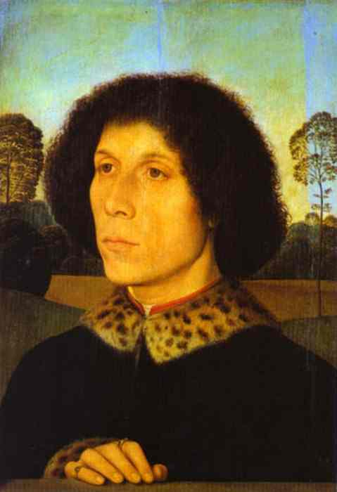 Portrait Of A Man In A Landscape | Hans Memling | Oil Painting