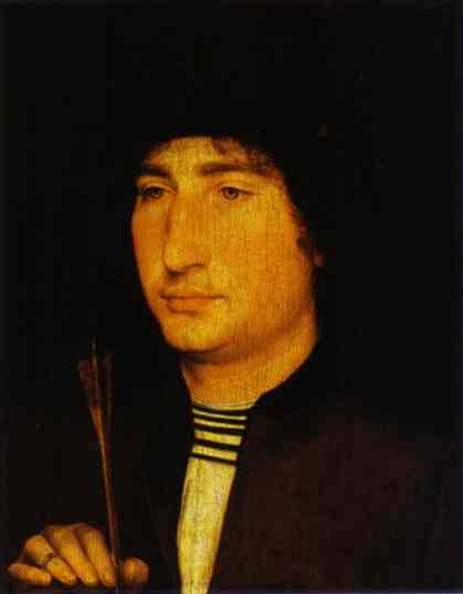 Portrait Of A Man With An Arrow 1470 | Hans Memling | Oil Painting