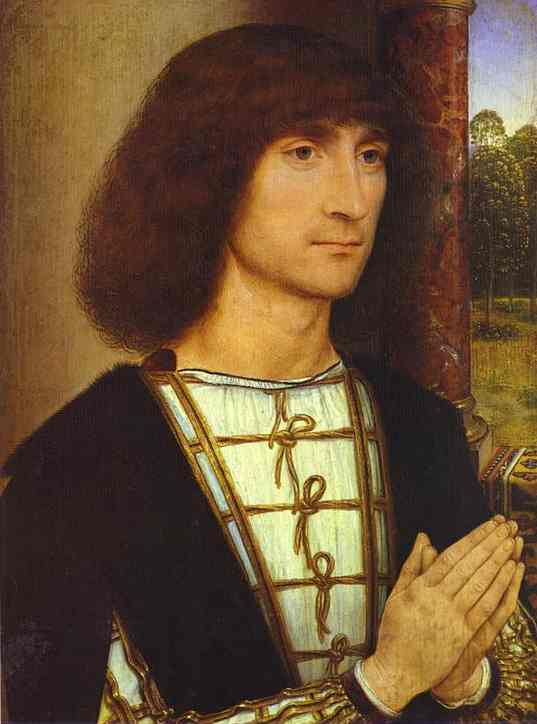 Portrait Of A Praying Man 1480-1485 | Hans Memling | Oil Painting