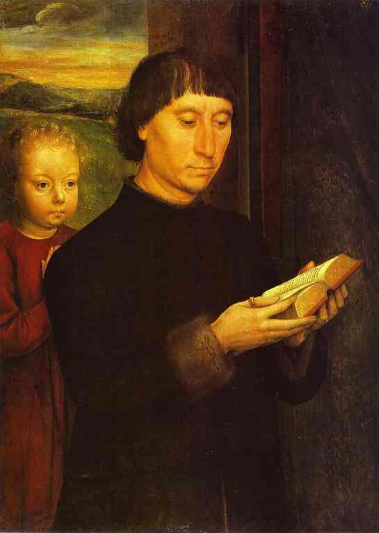 Portrait Of A Reading Man 1485 | Hans Memling | Oil Painting