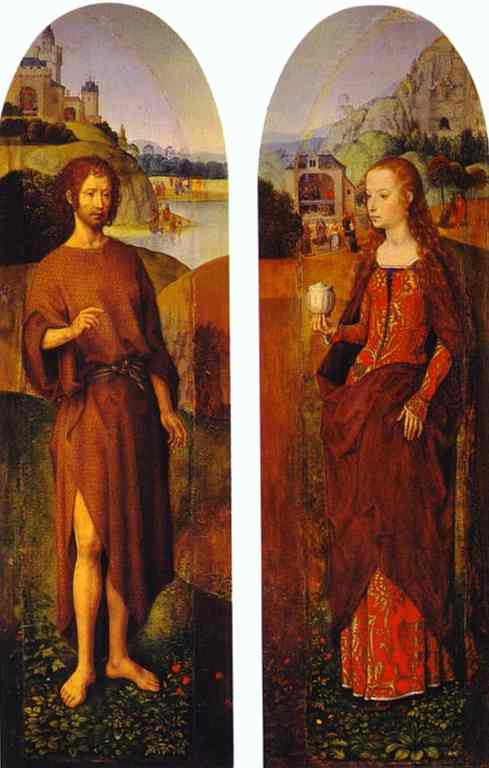 St John The Baptist And St Mary Magdalen | Hans Memling | Oil Painting