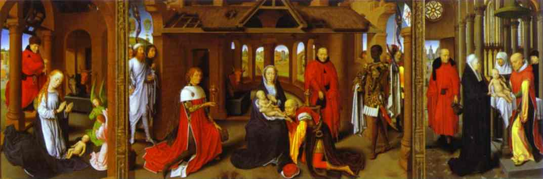 Triptych The Nativity The Adoration Of The Magi The Presentation In The Temple 1470s | Hans Memling | Oil Painting