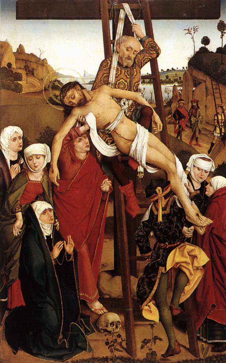 Crucifixion of the Hof Altarpiece 1465 | Hans Pleydenwurff | Oil Painting