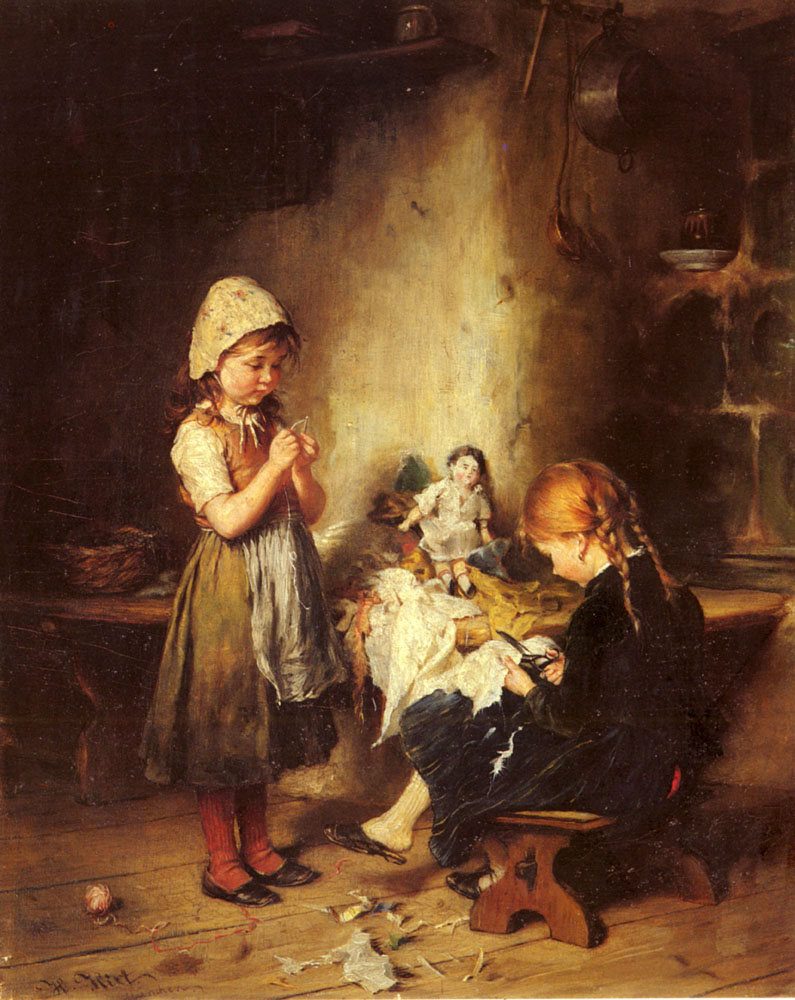 The Young Seamstresses | Heinrich Hirt | Oil Painting