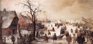 Winter Scene On A Canal | Hendrick Avercamp | Oil Painting