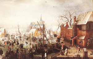 Winter Scene At Yselmuiden 1613 | Hendrick Avercamp | Oil Painting