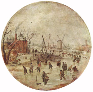 Winter Landscape With Skaters | Hendrick Avercamp | Oil Painting