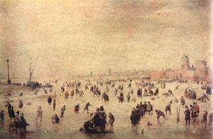 Skaters | Hendrick Avercamp | Oil Painting