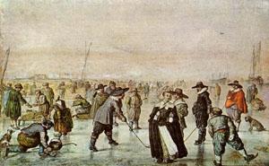 Scene On The Ice | Hendrick Avercamp | Oil Painting
